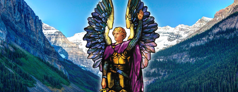 Arcángel Miguel en el lago louise