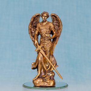 Estatua Arcangel Zadkiel resina bronce