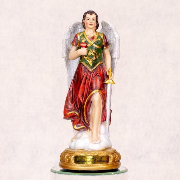 Estatua Arcángel Zadquiel pintada a mano