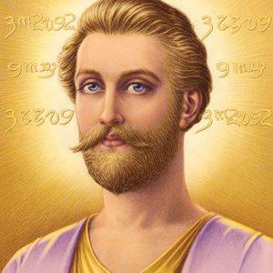Retrato maestro ascendido Saint Germain Sindelar
